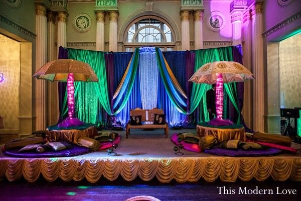 Mehndi night in atlanta ga indian wedding by this modern for Arabic stage decoration