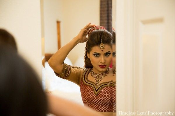 Getting ready, bridal fashions, hair and makeup in Boston, MA Indian Wedding by Timeless Lens Photography