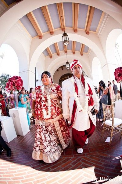 Ceremony in Los Angeles, CA Indian Wedding by Ruby Rideout