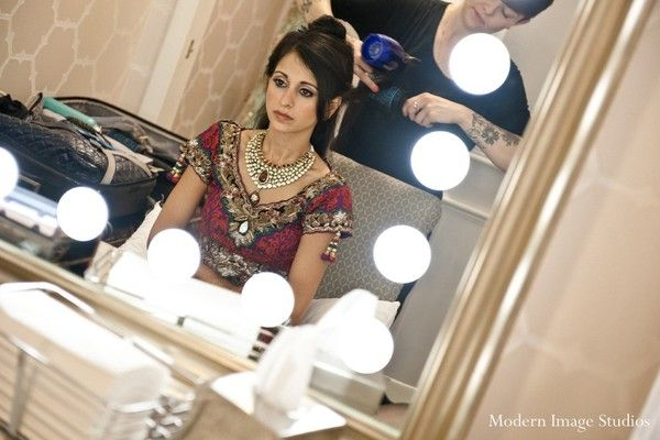 Hair and makeup, bridal fashions in Chicago, IL Indian Wedding by Modern Image Studios