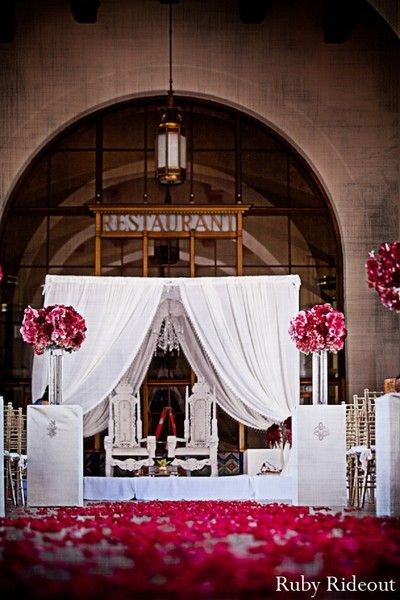 Mandap in Los Angeles, CA Indian Wedding by Ruby Rideout