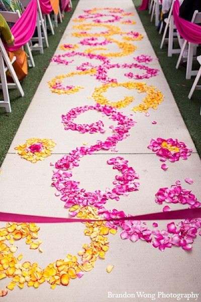 Floral & Decor in Newport Beach, CA Indian Wedding by Brandon Wong Photography