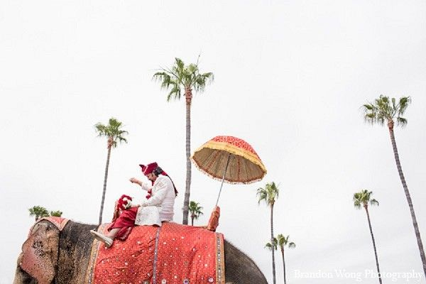 Baraat in Newport Beach, CA Indian Wedding by Brandon Wong Photography
