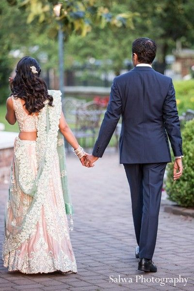 Portraits, bride and groom in Rockleigh, NJ Indian Wedding by Salwa Photography
