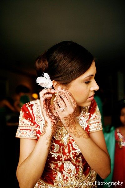 Bridal Jewelry in Kauai, Hawaii Indian Wedding by Anna Kim
