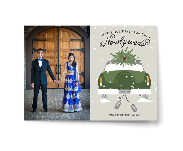 Wedding Stationery in Minted Holiday Card Collection and Giveaway! It ends tomorrow!