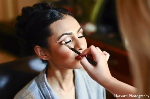 Hair & Makeup in Del Mar, CA Indian Wedding by Harvard Photography