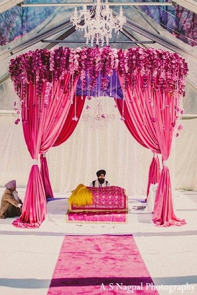 Floral and Decor in Upstate, NY Indian Wedding by A.S Nagpal Photography
