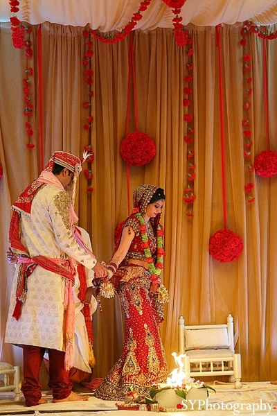 Ceremony in Las Vegas, NV Indian Wedding by SYPhotography