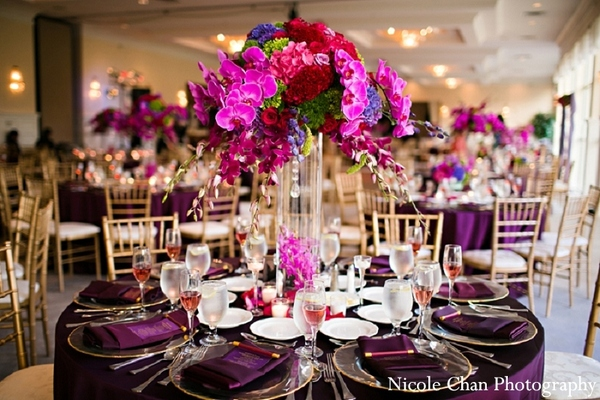 Floral & Decor in Kingston, MA Indian Fusion Wedding by Nicole Chan Photography