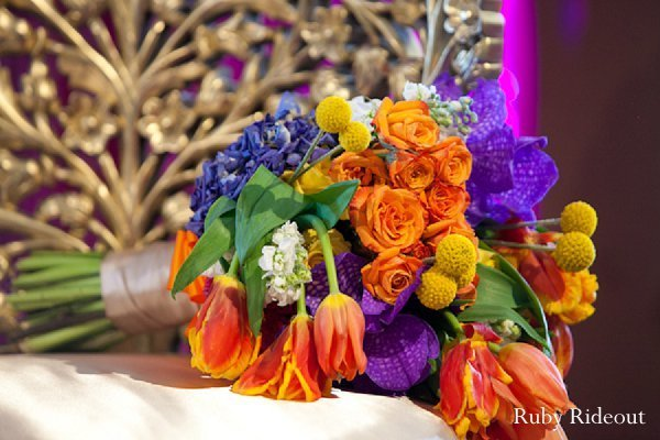 Ceremony in Walnut, California Indian Wedding by Ruby Rideout Photography
