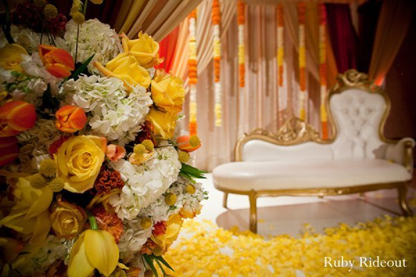Reception in Walnut, California Indian Wedding by Ruby Rideout Photography
