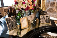 This bride and groom choose chic floral arrangements to elevate their stunning venue.