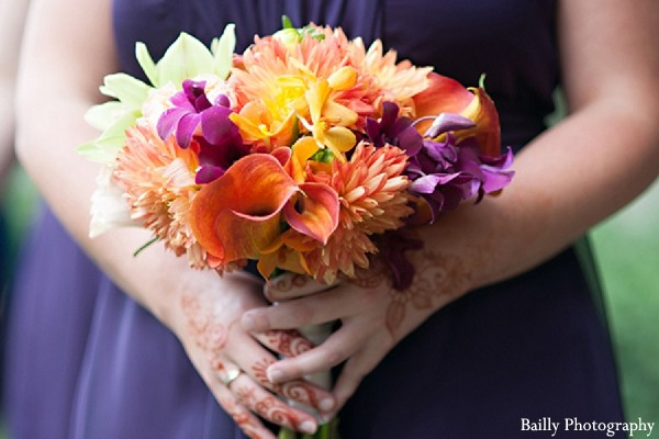 Bridal Bouquet in Boston, MA Indian Wedding by Bailly Photography