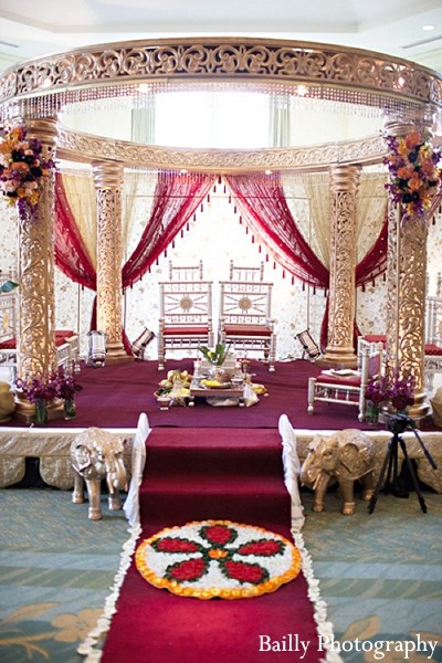 Mandap in Boston, MA Indian Wedding by Bailly Photography