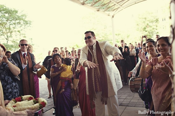 Baraat in Boston, MA Indian Wedding by Bailly Photography