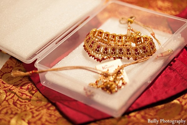 Bridal Jewelry in Boston, MA Indian Wedding by Bailly Photography