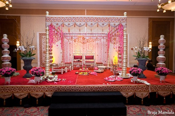 Mandap in Detroit, MI Indian Wedding by Braja Mandala Wedding Photography