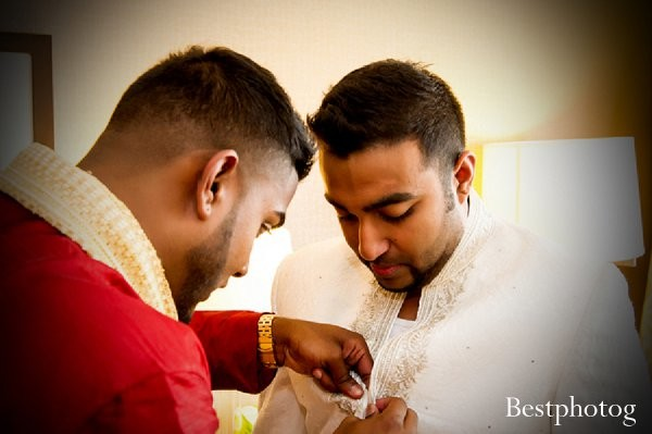 Getting ready in Parsippany, NJ Indian Wedding by Bestphotog