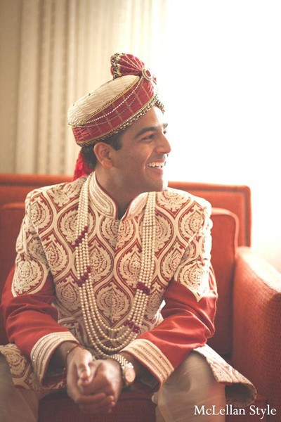 Groom Fashion in Nashville, TN Indian Wedding by McLellan Style