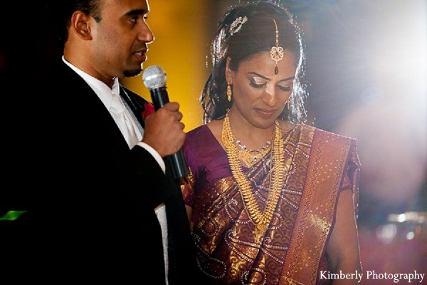 Reception in Tampa, FL Indian Wedding by Kimberly Photography