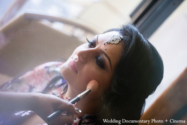 Hair & Makeup in Fremont, CA Indian Wedding by Wedding Documentary Photo + Cinema