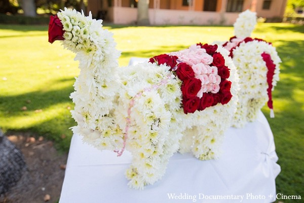 Floral Elephant in Fremont, CA Indian Wedding by Wedding Documentary Photo + Cinema