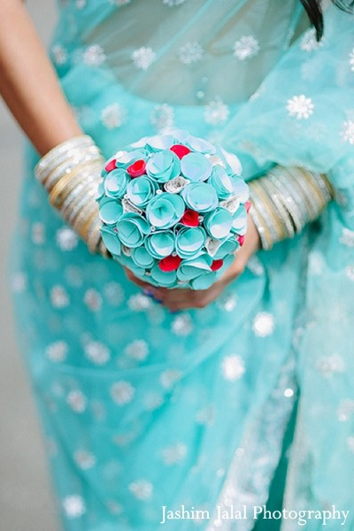 Bridal Bouquet in Woodbury, NY Indian Wedding by Jashim Jalal Photography