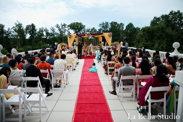 Ceremony in Somerset, NJ Indian Wedding by La Bella Studio