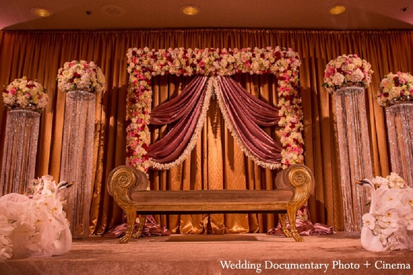 Floral & Decor in Fremont, CA Indian Wedding by Wedding Documentary Photo + Cinema