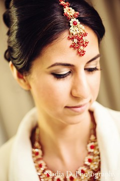 This Indian bride is enjoying a pamper sesh as she gets her hair and makeup styled by the pros!