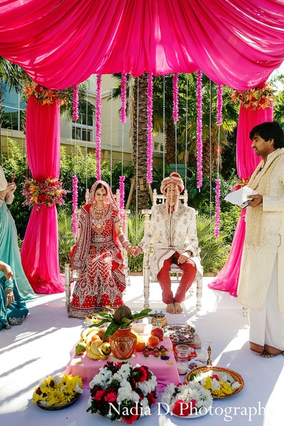 Ceremony in Kissimmee, FL Indian Wedding by Nadia D. Photography