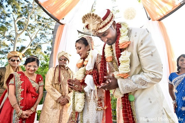 Ceremony in Newport Beach, CA Indian Wedding by Harvard Photography