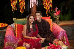 This Indian bride and groom prepare for their upcoming wedding day with a fabulous mehndi night!