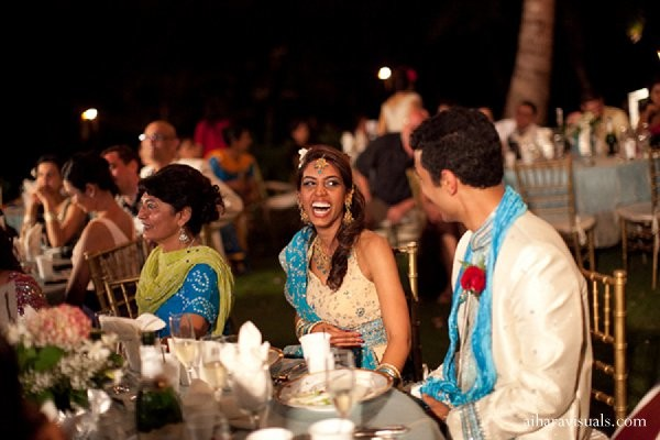 Reception in Oahu, HI Indian Wedding by Aihara Visuals