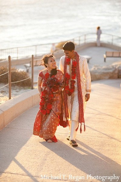 Portraits in Corona Del Mar, CA Indian Fusion Wedding by Michael T Regan Photography