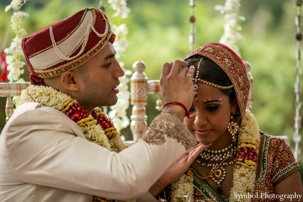 Ceremony in Boston, MA Indian Wedding by Symbol Photography