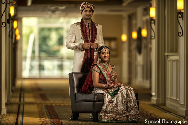 Portraits in Boston, MA Indian Wedding by Symbol Photography