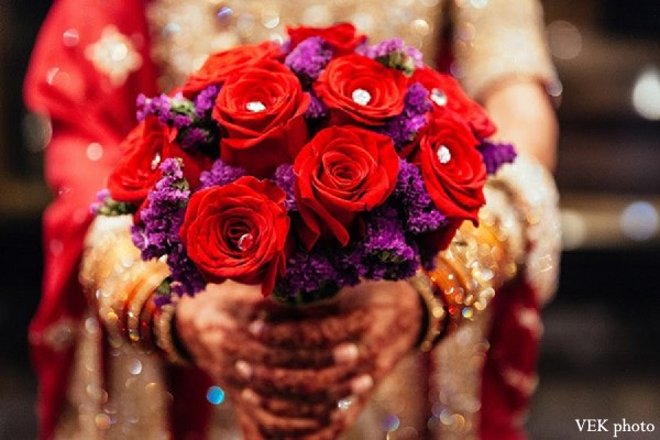Bridal Bouquet in Chicago, IL Pakistani Wedding by VEK photo