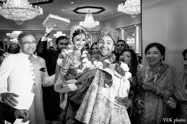 Ceremony in Chicago, IL Pakistani Wedding by VEK photo