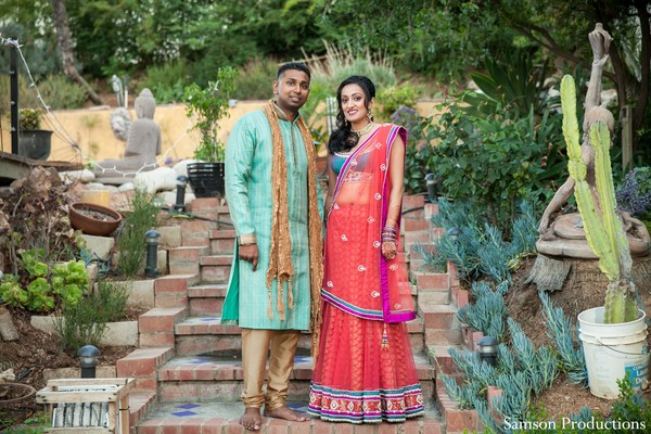 Portraits in Garden Grove, CA Indian Wedding by Samson Productions