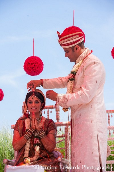 Ceremony in Long Branch, NJ Indian Wedding by Damion Edwards Photography