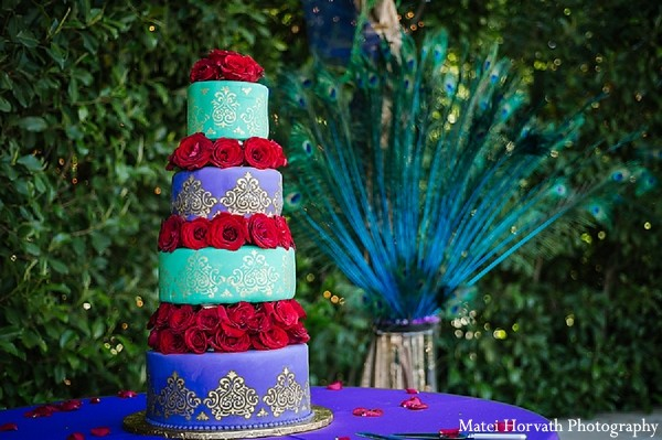 Wedding Cake in Moorpark, CA Indian Fusion Wedding by Matei Horvath Photography