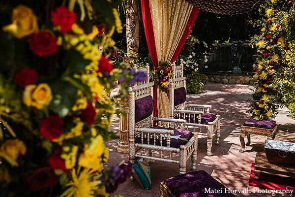 Mandap in Moorpark, CA Indian Fusion Wedding by Matei Horvath Photography