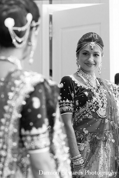 Hair & Makeup in Somerset, NJ Indian Wedding by Damion Edwards Photography