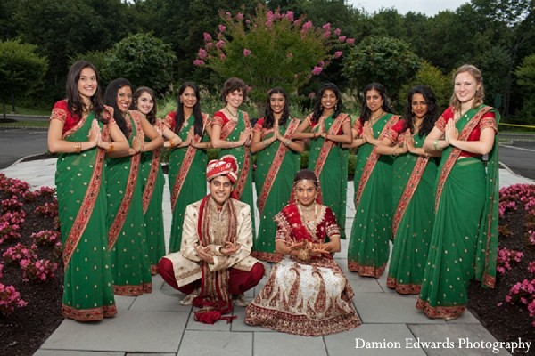 Bridal Party in Somerset, NJ Indian Wedding by Damion Edwards Photography