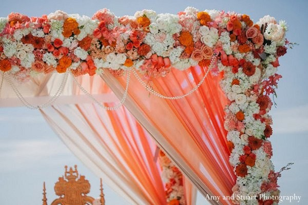 Ceremony in Laguna Niguel, CA Indian Wedding by Amy and Stuart Photography