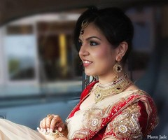 A bride before her Indian wedding ceremony.