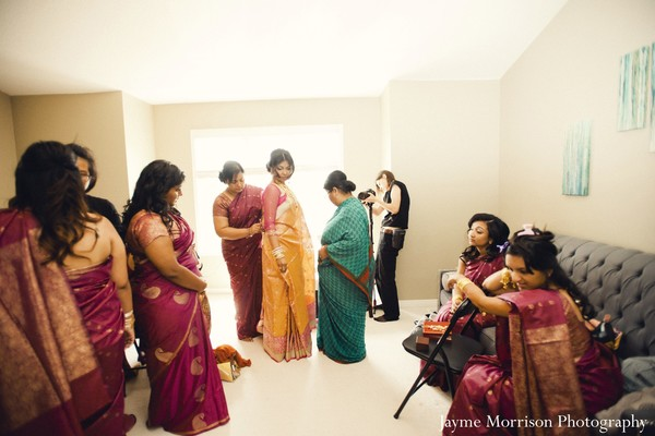Getting ready in Toronto, Canada Indian Wedding by Jayme Morrison Photography