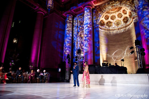 Reception in Washington, DC Indian Wedding by CB Art Photography